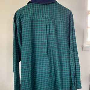 Vintage Tops - SOLD ETSY 90s Green Plaid  Button Down